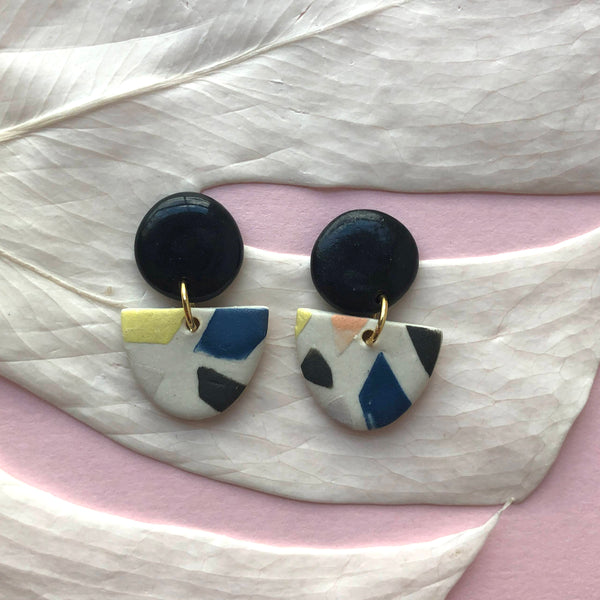LUA EARRINGS // TERRAZZO