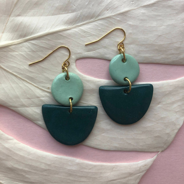 MAHLIA EARRINGS // TWO TONE