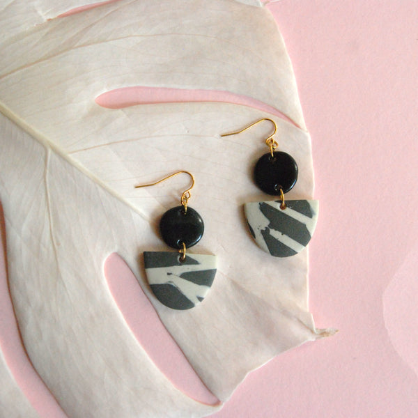 MAHLIA EARRINGS // TERRAZZO