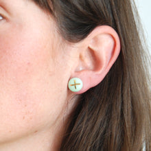 Load image into Gallery viewer, PRALINE STUDS // X MARKS THE SPOT