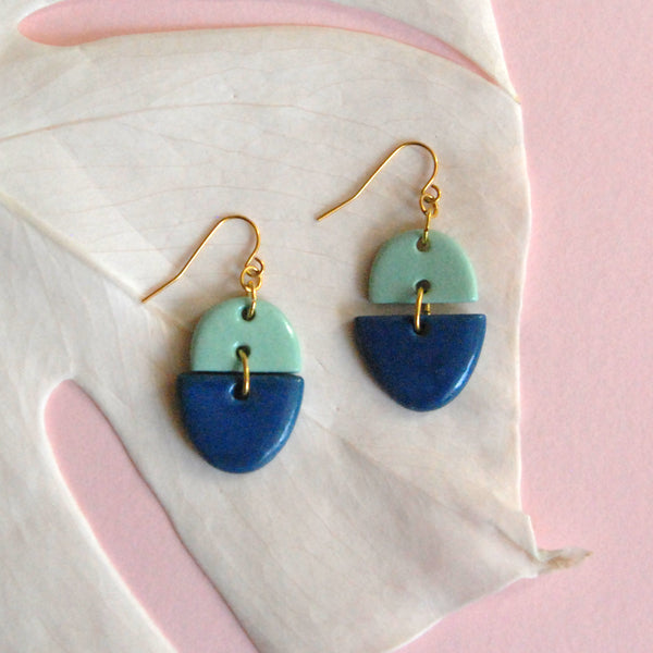 ZOË EARRINGS // TWO TONE