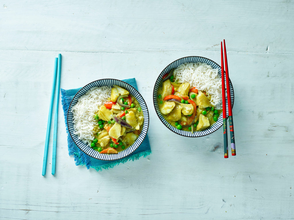 Chinese Fish Curry with Sticky Jasmine Rice