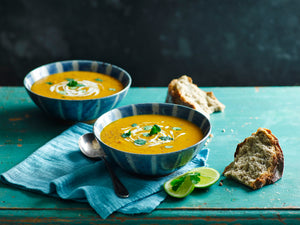 Spicy Sweet Potato and Carrot Soup