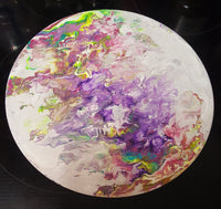 One of a Kind Fluid Art on Vinyl