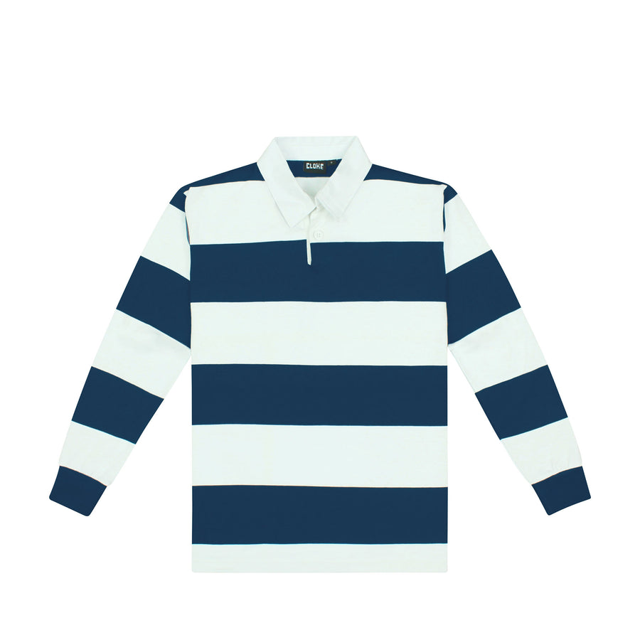 The Striped Rugby Jersey Navy/White / XXS