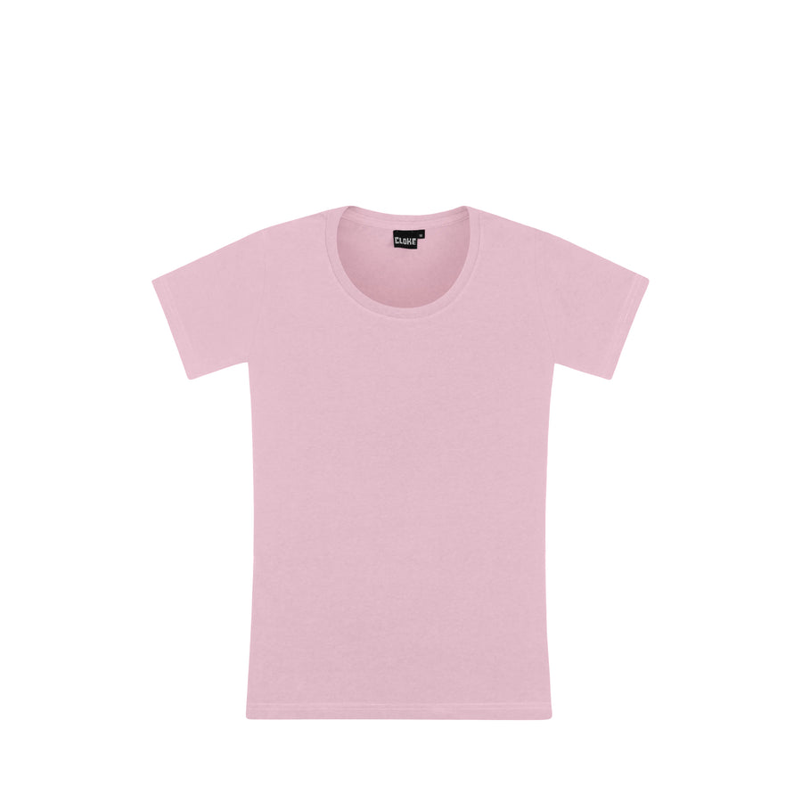 Womens Silhouette Tee - Pale Pink / 8