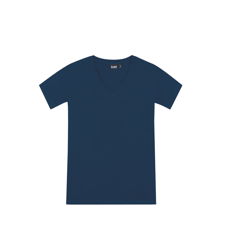 The V Neck Tee Womens Navy / 8