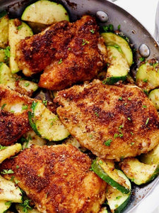 Family Size Parmesan Chicken with Zucchini