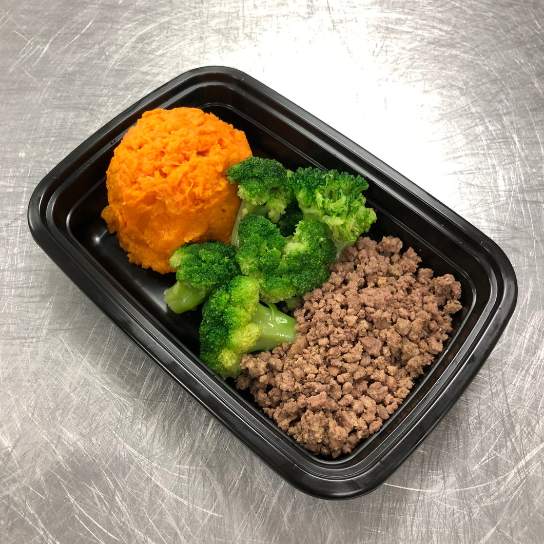 Beef w-Sweet Potatoes & Broccoli
