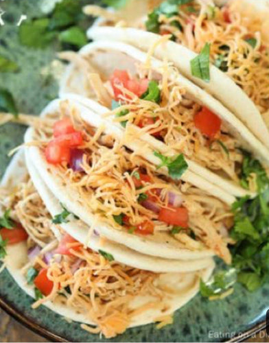 Family Size Shredded Chicken Tacos