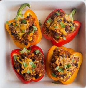 Low Carb Turkey Stuffed Peppers