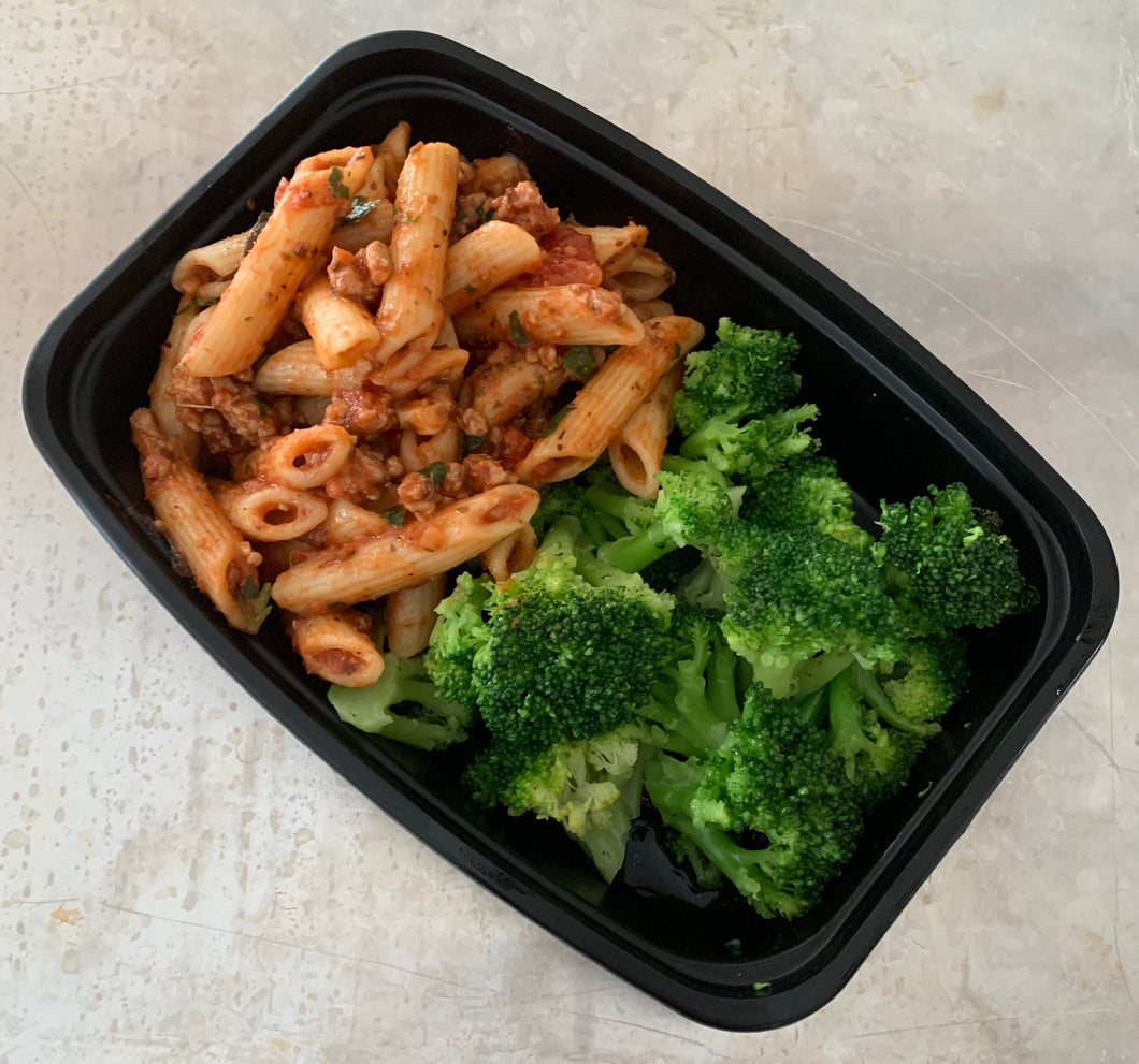 Family Size Penne Pasta w-Turkey & Broccoli