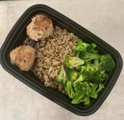 Lean Down Turkey Meatballs w-Quinoa and Broccoli