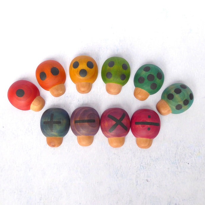 Counting ladybird set - rainbow