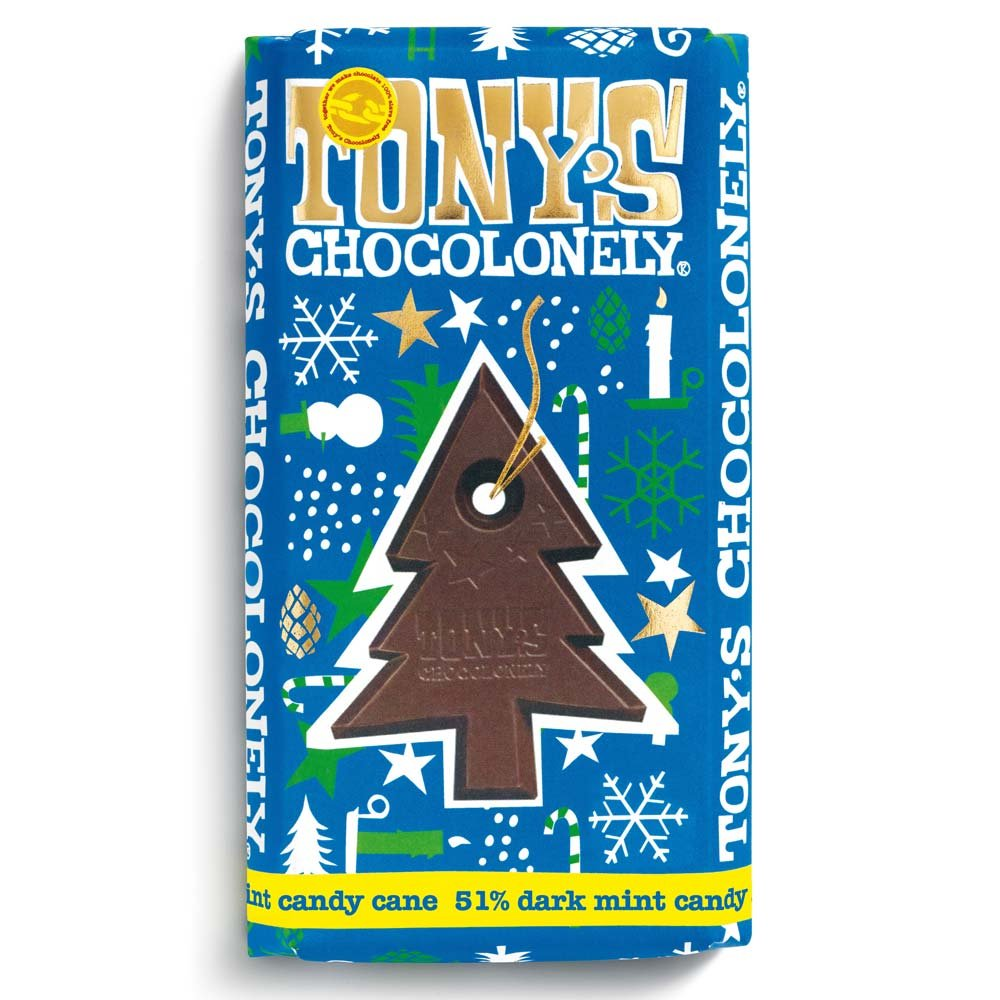 Tony's Chocolonely - LIMITED EDITION - Dark Chocolate Mint Candy Cane 180g