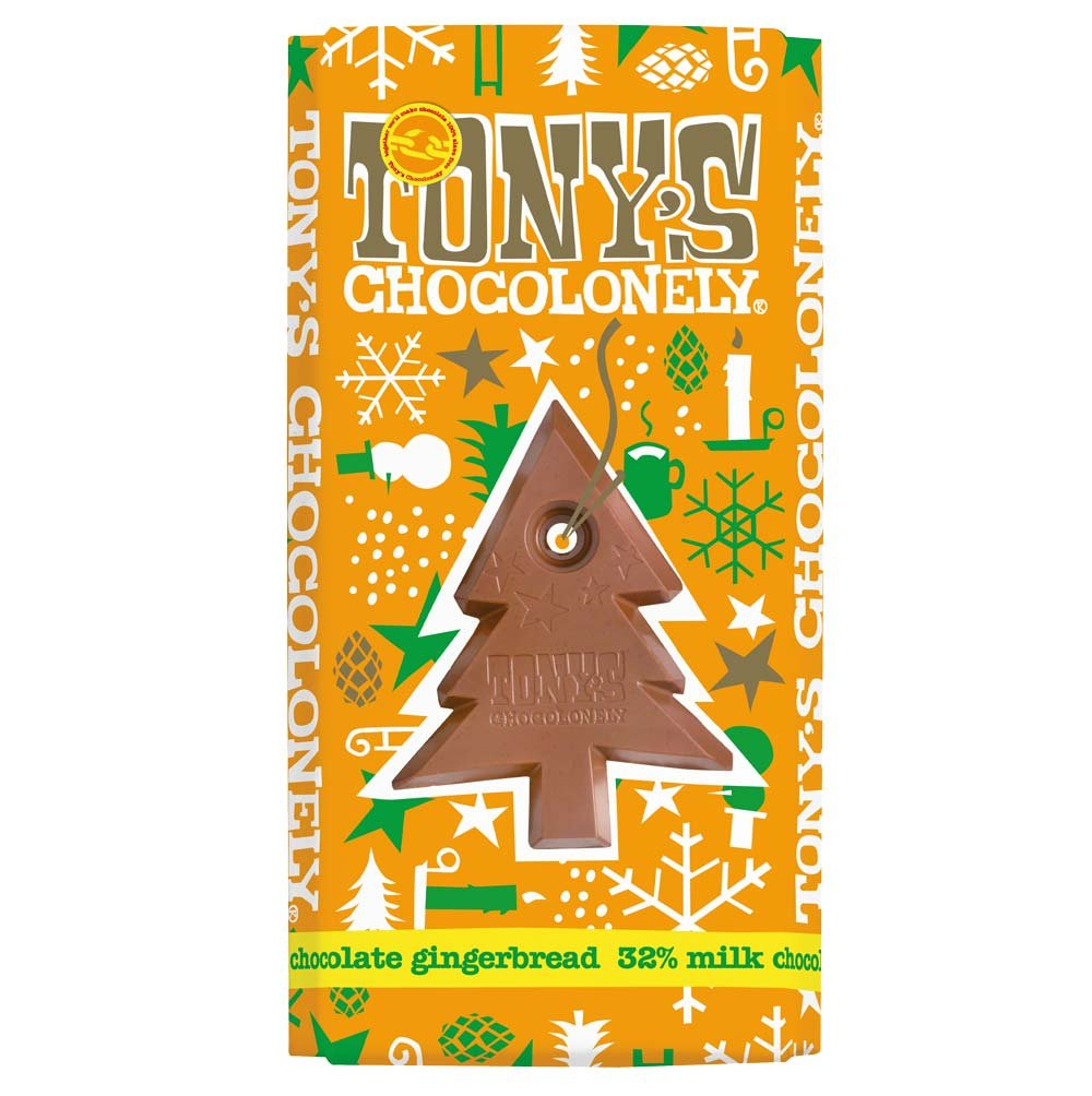 Tony's Chocolonely - LIMITED EDITION - Milk Chocolate Gingerbread 180g