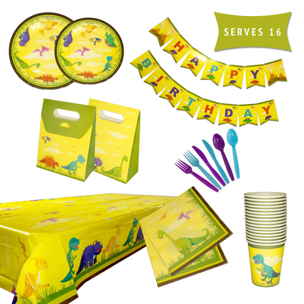 Dinosaur Birthday Party Supplies Decorations & Tableware Kit