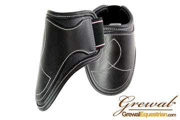 Black Leather Fetlock Boots