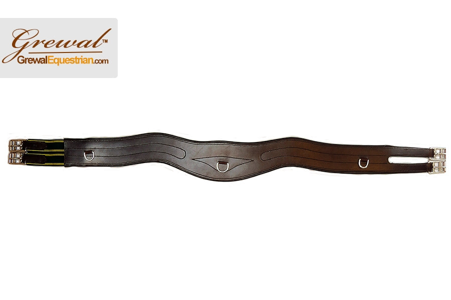 Rich Havana Contoured Leather Girth
