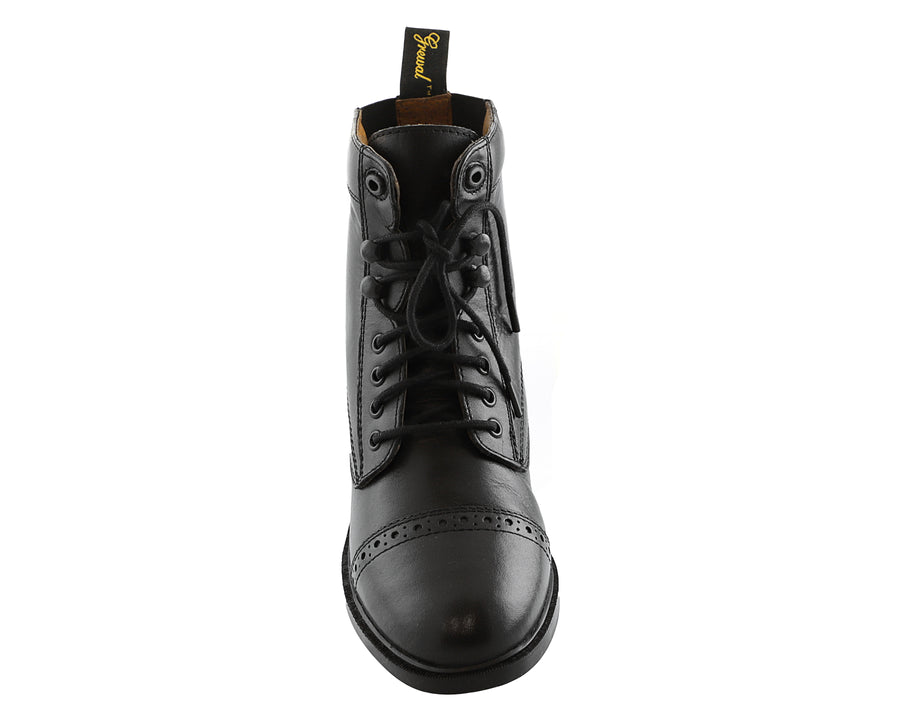 Children's Lace Up Leather Paddock Boots