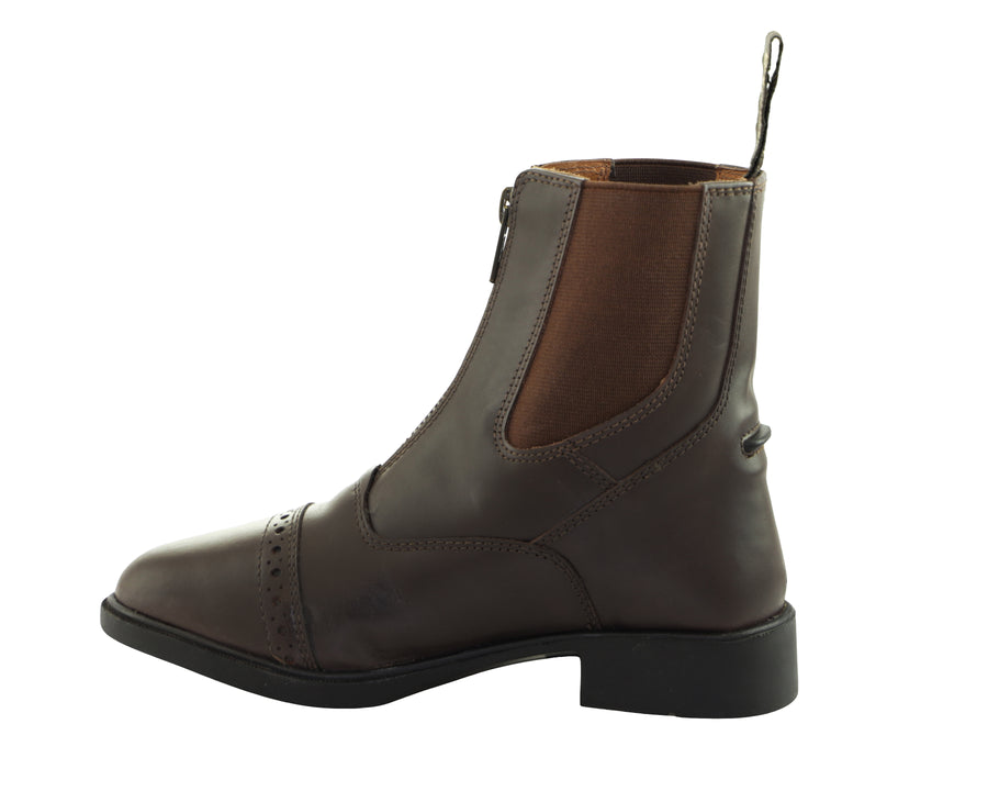 Children's  Zip Up Leather Paddock Boots