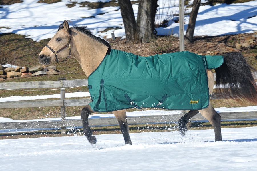 600D 150g Denier Ripstop Pony Poly Turnout Blanket with Neck Cover