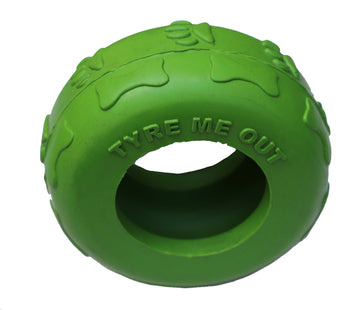 Tyre Me Out Rubber Dog Toy