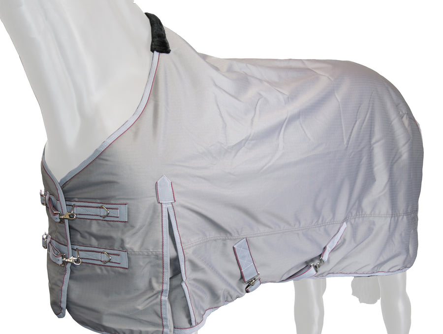 1200D  Royal Blue and Grey Turnout / Stable Blanket