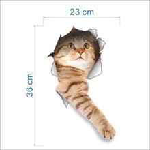 Load image into Gallery viewer, 3D Vivid Cat Bathroom Toilet Sticker