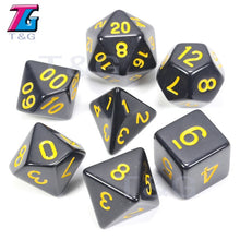 Load image into Gallery viewer, Wholesales 7pc/lot Dice Set D4,D6,D8,D10,D10%,D12,D20 Colorful Accessories for Board Game,DnD, RPG