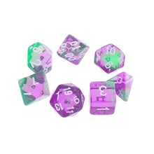 Load image into Gallery viewer, 7pcs/set Transparent Sided Dice D4 D6 D8 D10 D12 D20 Acrylic Digital Dice For Dungeons & Dragon D&D RPG Poly Table Board Game
