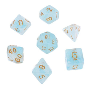 7Pcs Polyhedral Dice Double-Colors Polyhedral Game Dice for RPG Dungeons and Dragons DND RPG MTG D20 D12 D10 D8 D6 D4 Table Game