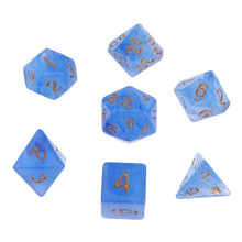 Load image into Gallery viewer, 7Pcs Polyhedral Dice Double-Colors Polyhedral Game Dice for RPG Dungeons and Dragons DND RPG MTG D20 D12 D10 D8 D6 D4 Table Game