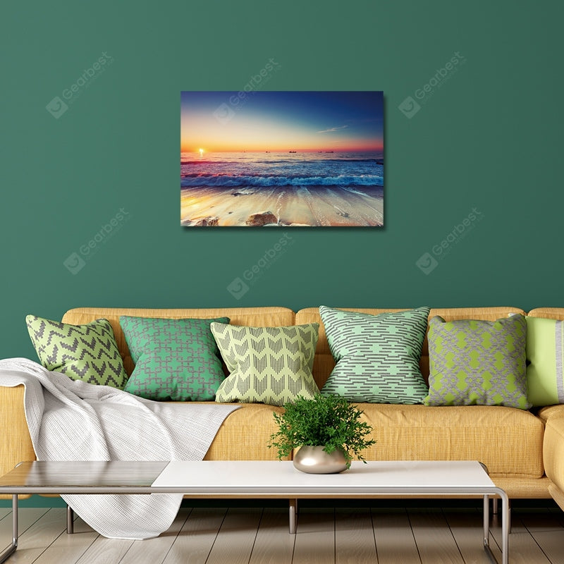 Sunset Scenery on The Seaside Print Art Wall_Art