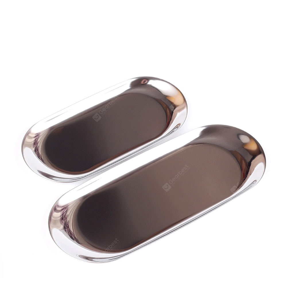 WX-31905 Golden Oval Plate Jewelry Metal Tray Other_Kitchen_Accessories