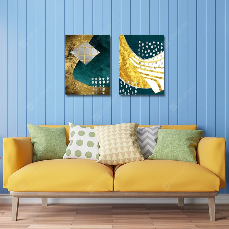 Fashion Collides With Color Abstraction Print Art 2PCS Wall_Art
