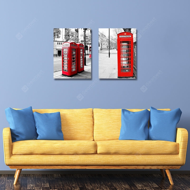 Retro European and American Style Print Art 2PCS Wall_Art