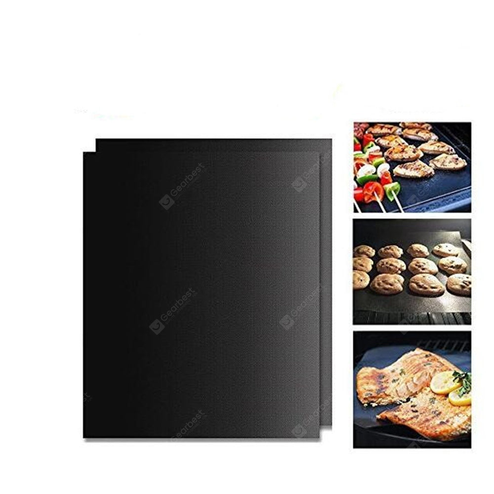 BBQ Baking Mat Cooking Black Reusable Nonstick Sheet Oven Other_Kitchen_Accessories