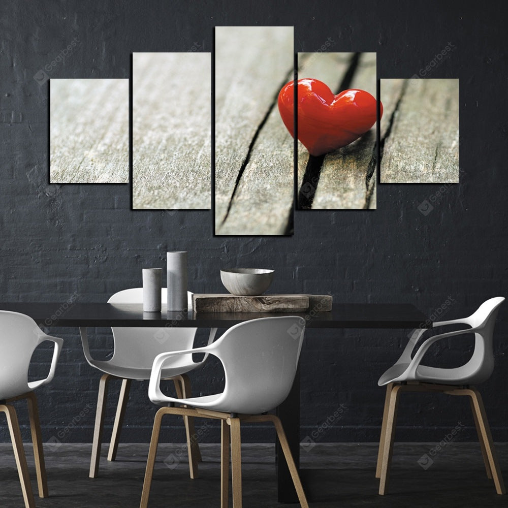 5 Pcs HD Inkjet Paints Valentine's Day Theme Love Decorative Painting Wall_Art
