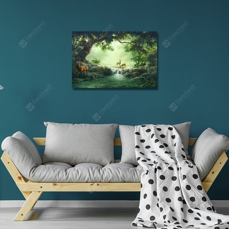 DYC Wild Deer in the Woods of Dreams Print Art Wall_Art