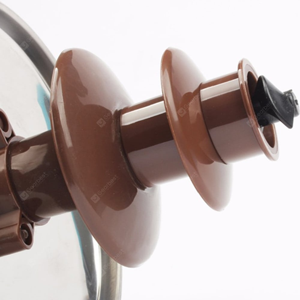 Three Layers Chocolate Fountain Melting Pot Machine Portable DIY Kitchen Tool Other_Kitchen_Accessories