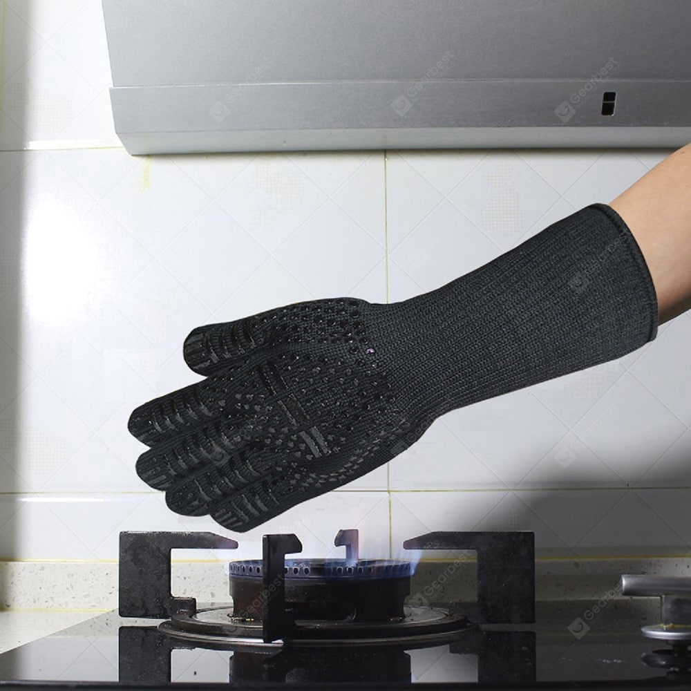 Food Grade Heat Resistant Silicone Kitchen Barbecue Oven Mitt Baking Glove Other_Kitchen_Accessories