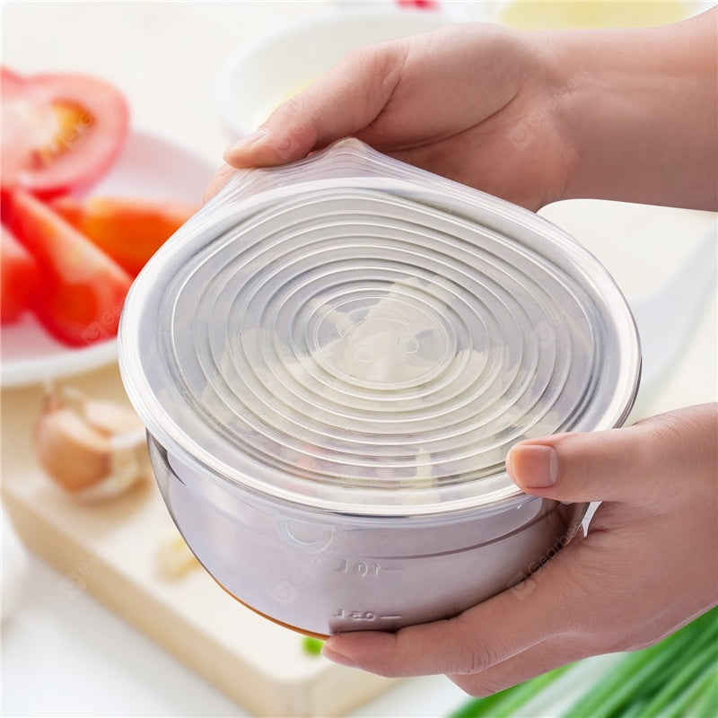 Reusable Silicone Stretch Storage Lids 6PCS Other_Kitchen_Accessories
