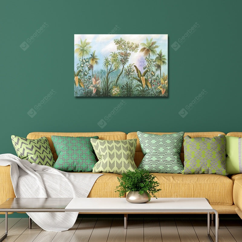 A Beautiful Tropical Rainforest Landscape Print Art Wall_Art