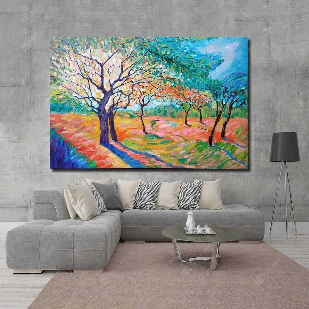 QINGYAZI HQ024 Hand-Painted Abstract Oil Painting Home Wall Art Painting Wall_Art