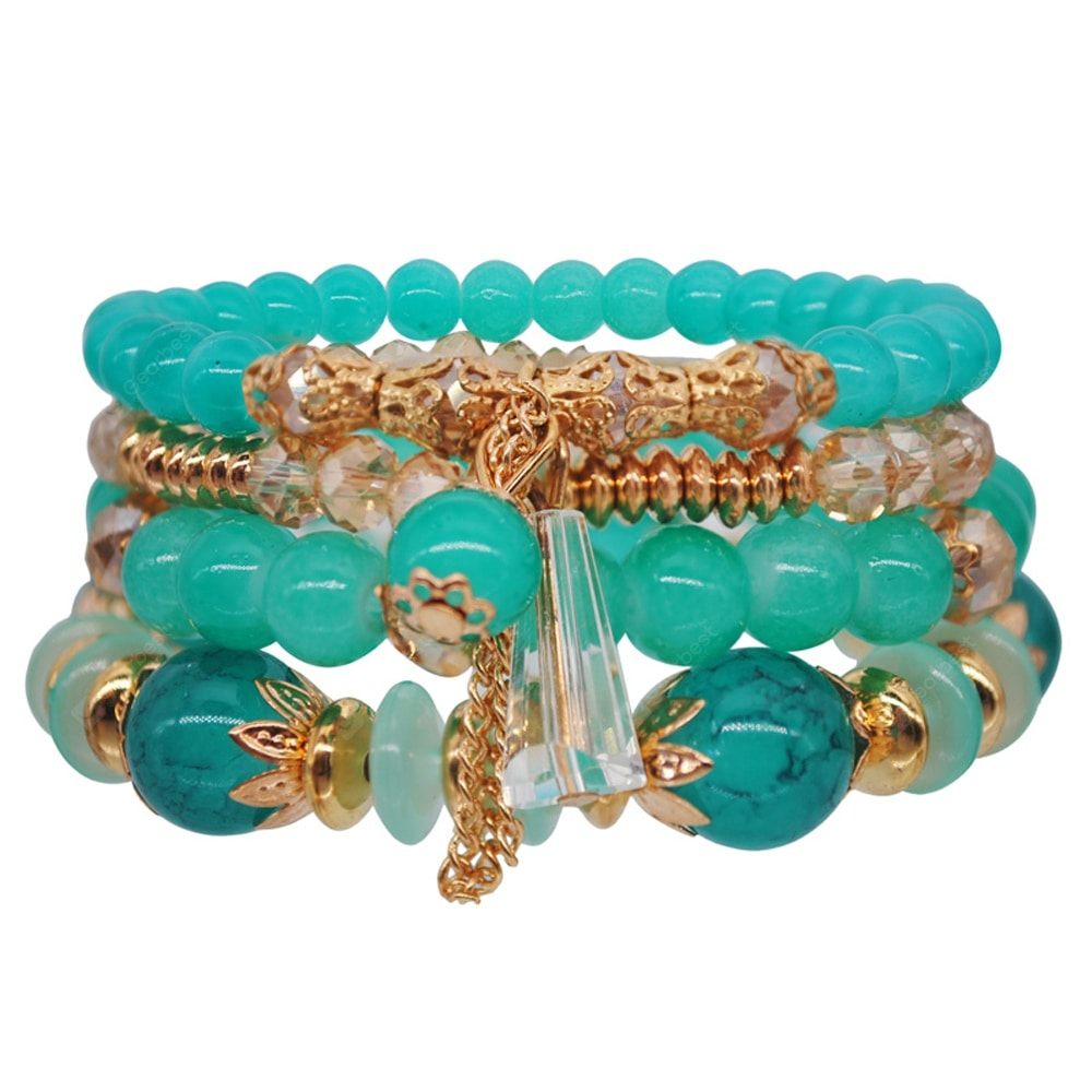 Bohemia Ocean Style Original Design Multilayer String Beads Crystal Bracelet Bracelets&Bangles