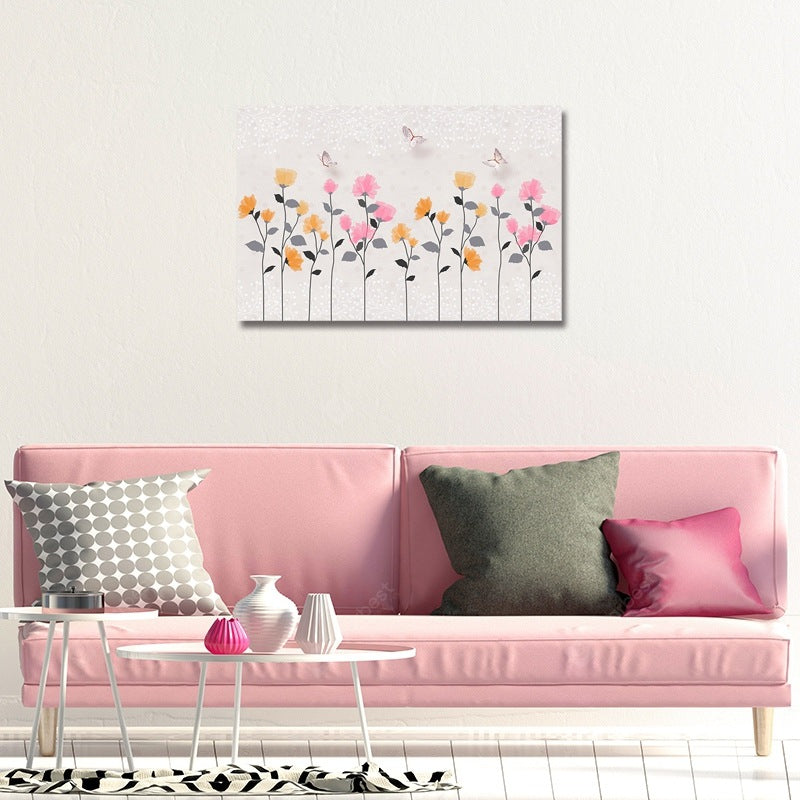 DYC Butterflies on Flowers Print Art Wall_Art