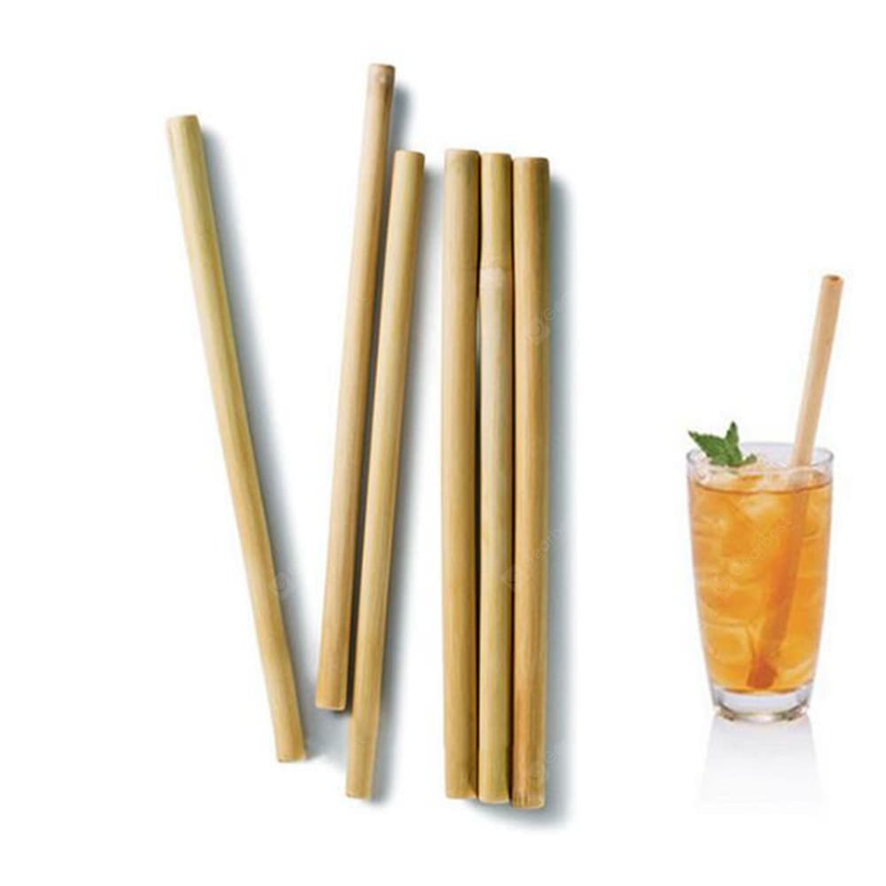 Bamboo Biodegradable Natural Environmentally Straw for Adults Bamboo Straw Drinkware
