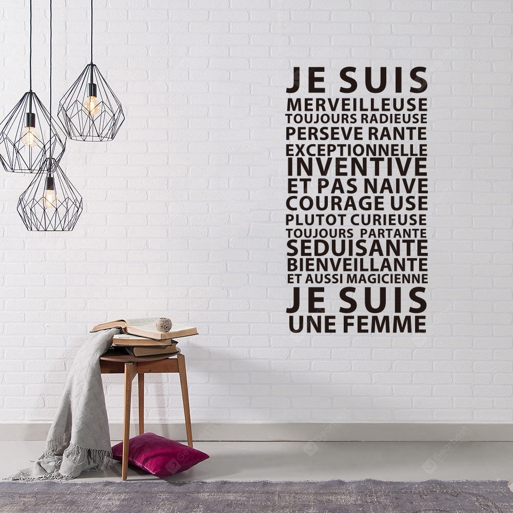 JE SUIS French Home Rules English Rumors Home Decor Removable Stickers Wall_Art