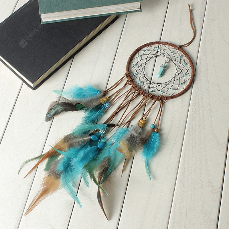 Handmade Dream Catcher With Feathers Wall Hanging Decoration Ornament Gift